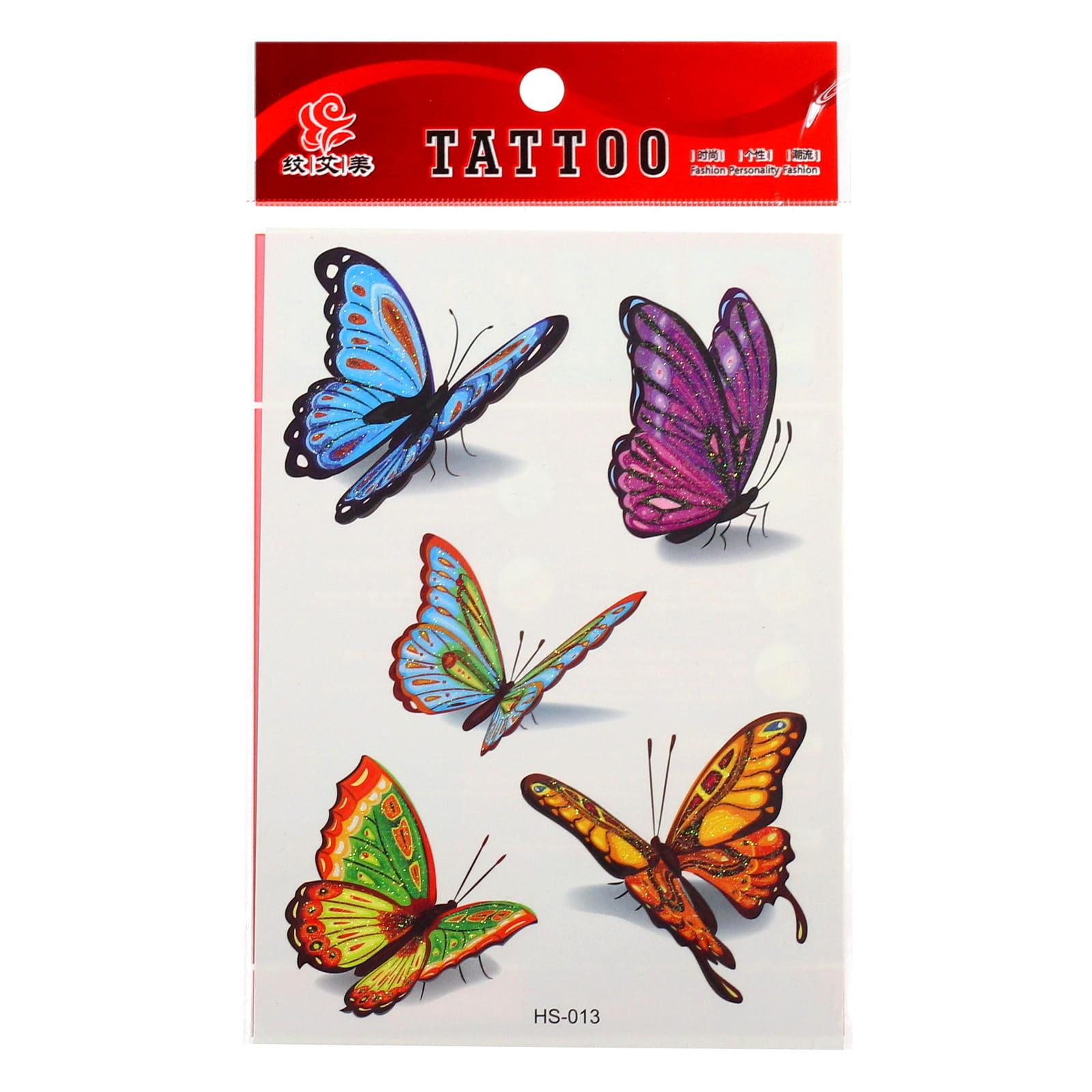 Tatuaż Tymczasowy Zmywalny Dla Dzieci Motyle