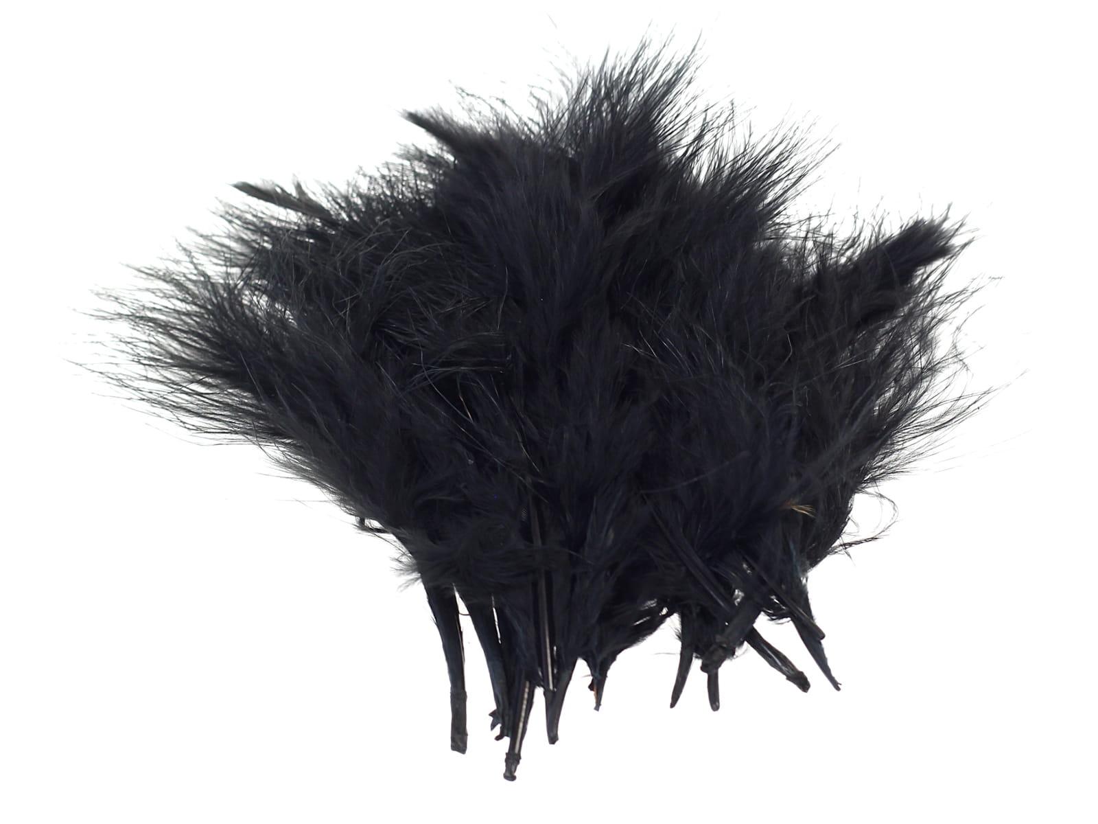 Piórka Dekoracyjne Miękkie Puszyste Czarne