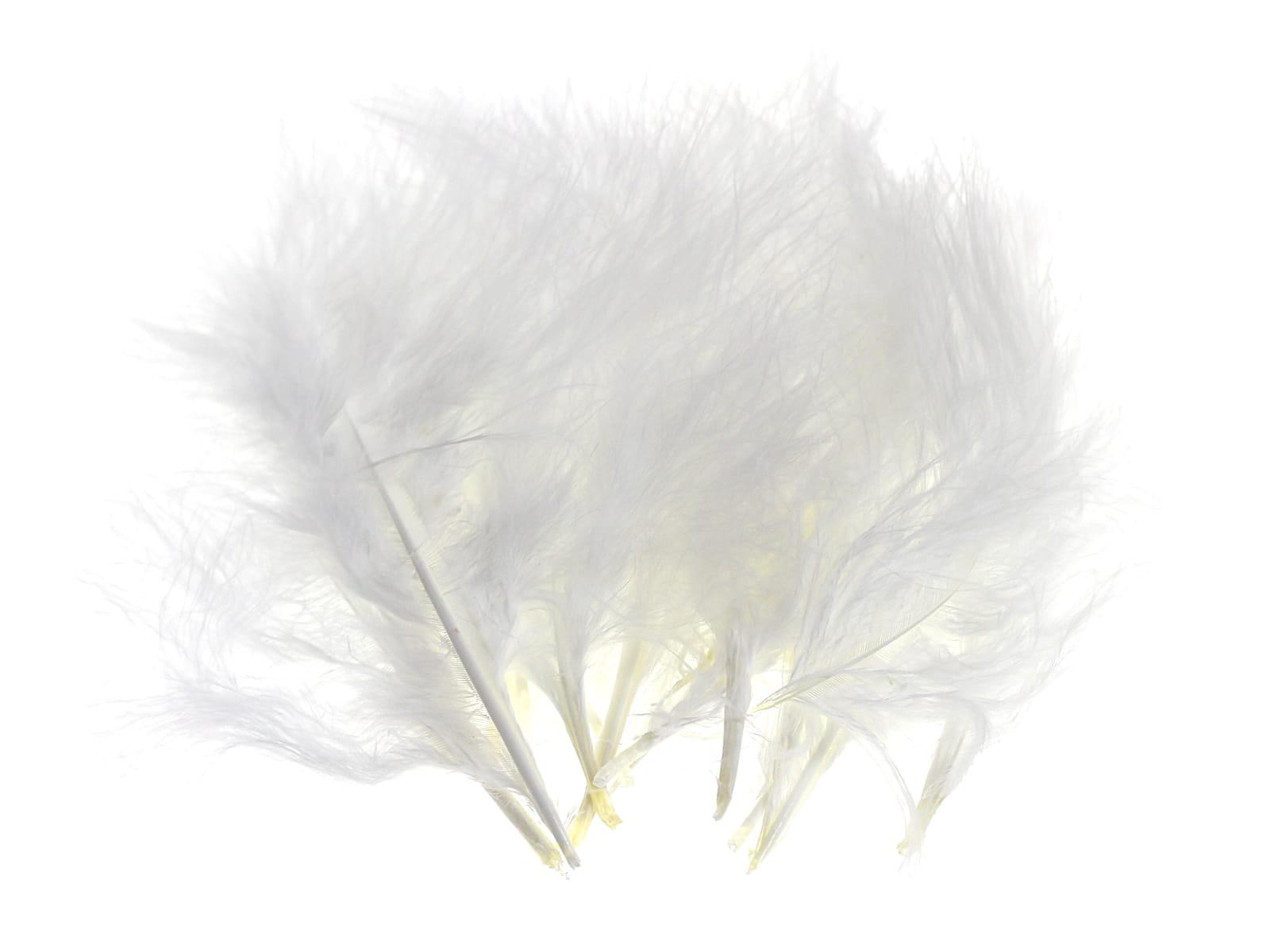 Piórka Dekoracyjne Miękkie Puszyste Białe